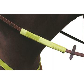 Jacson Tygel-och pannband Reflex Neon Gul 25cm